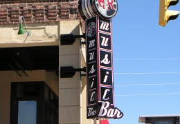 A & R Music Bar Projecting Sign