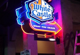 White Castle Projecting Sign