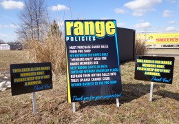 Range Policies Sign