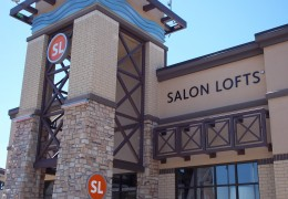 Salon Lofts Storefront Sign