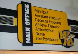 Watkins Memorial Main Office Sign