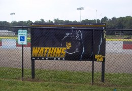 Watkins Memorial Football Field Sign